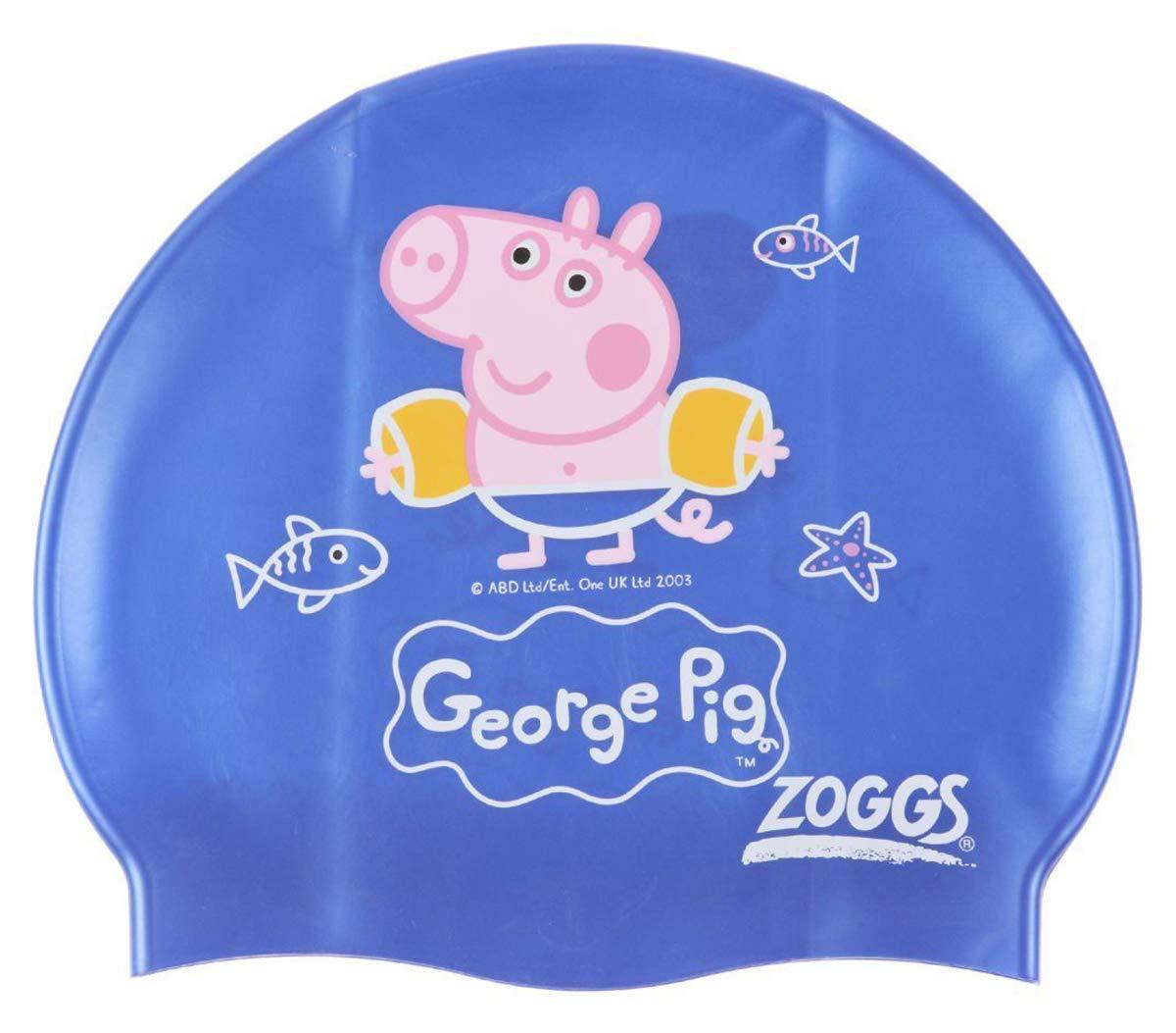Giftsbynet PEPPA GEORGE PIG Silicone SWIM CAP Latex-Free KIDS 0-6YRS NEW UK Swimming