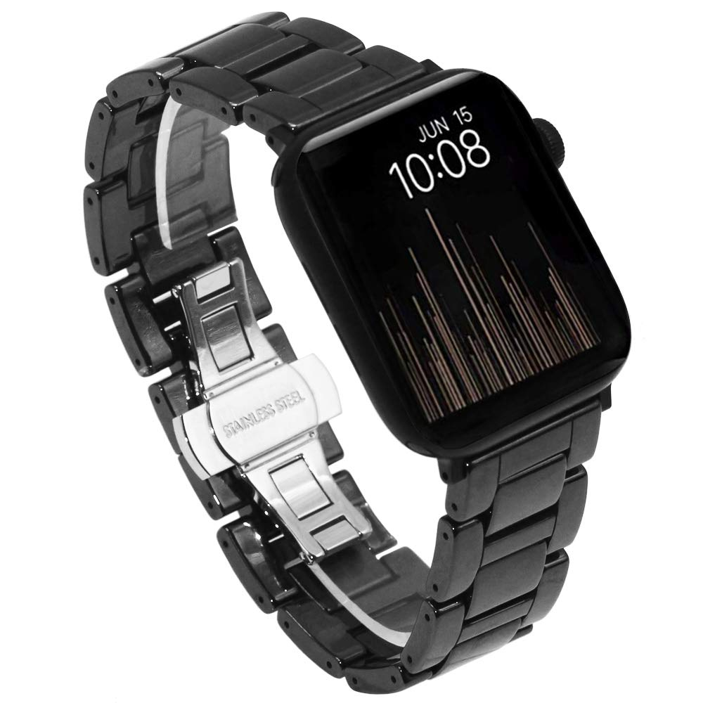 Amazon.com: Juntan Black Full Ceramic Watch Band Compatible ...