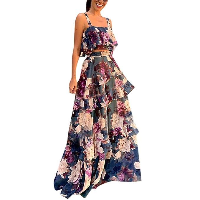 Amazon.com: caopixx Mujer de dos piezas, Off hombro 2 piezas ...