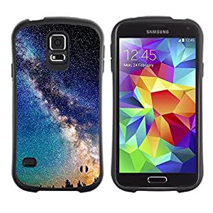 "Pulsar iFace Series Tpu silicona Carcasa Funda Case para Samsung Galaxy S5 , Mily Láctea Stars el cielo nocturno Romance"""