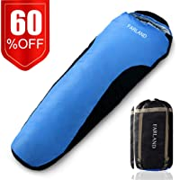 FARLAND Camping Sleeping Bag 4 Season Envelope MummyOutdoor Lightweight Portable Waterproof for Adults & Kids,Women,Girls,Boys,Perfect for Traveling,Hiking and Outdoor Activities