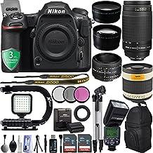 Nikon D500 2160P 4K DSLR Camera w/ GPS & Wi-Fi Ready + 5 Lens - 21 to 1000mm - 128GB - 30PC Kit - Nikon 50mm f/1.8D - Nikon 70-300G Lens - Opteka 1000mm + 3YR Warranty
