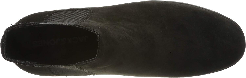 JACK /& JONES Herren Jfwmitchell Synth Suede Anthracite Chelsea Boots