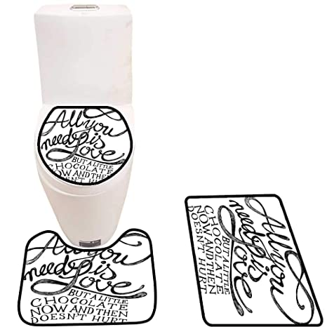 Amazon.com: Cojín para inodoro con texto en inglés