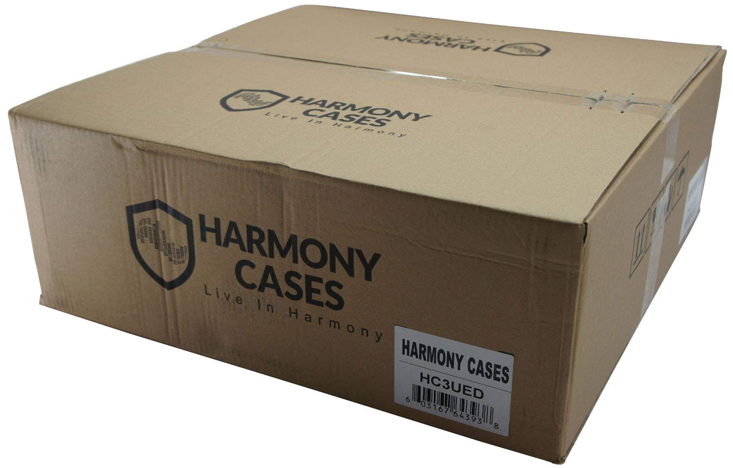 Harmony Cases HC3UED Pro DJ Flight 3U FX Effect 16 Depth Road Vertical Case