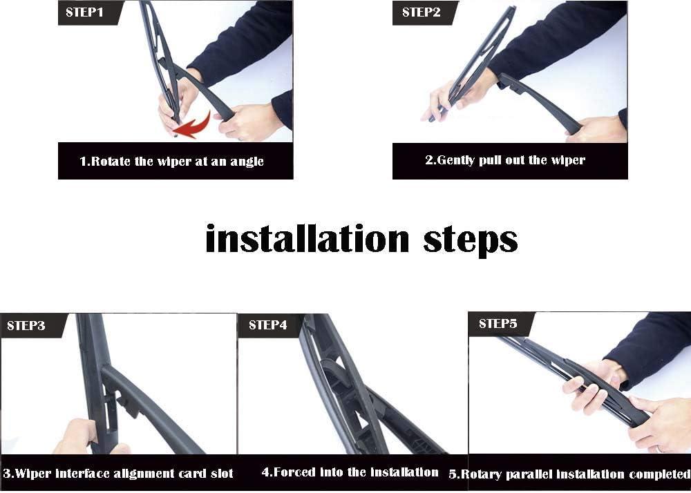 Pack of 1 12 MIDOON Rear Wiper Blade Original Equipment Replacement