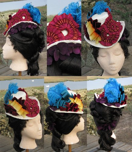 Victorian Hat History | Bonnets, Hats, Caps 1830-1890s Early 1870s (Bustle Hat) Hat Pattern $13.95 AT vintagedancer.com