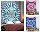 Future Handmade Wholesale Pack Of 3 Large Queen Size Tapestries Tie Dye Mandala Tapestry Wholesale Indian Printed Bed Sheet Tapestries India Handmade Mandala Bohemian Cotton Bedspread (PACK 4)
