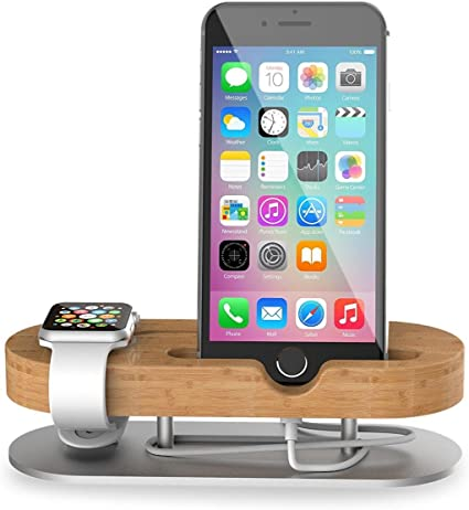 Apple Watch Stand & Soporte para Smartphone Base de carga 2 en 1 ...