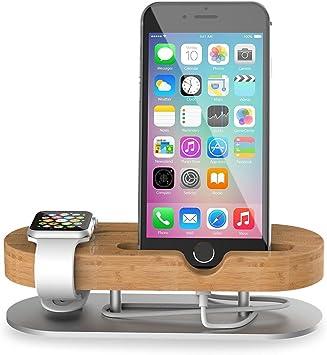 Apple Watch Stand & Soporte para Smartphone Base de carga 2 en 1 ...