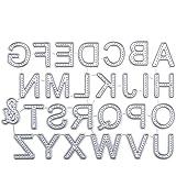 Yiwa Letras Grandes Del Alfabeto De 5cm Plantillas De Troqueles