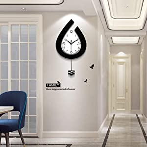 TT Decorative Modern Pendulum Wall Clock for Living Room Decor,Bedroom,Office(22.4 inch)
