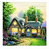 Nivalkid 5D Full Drilled Diy Diamond Painting Cross Stitch Square Diamond Embroid Crystal Wall Sticker Painting Diamond Landscape Full Diamond Stick Drill Embroidery Home & Garden (C)