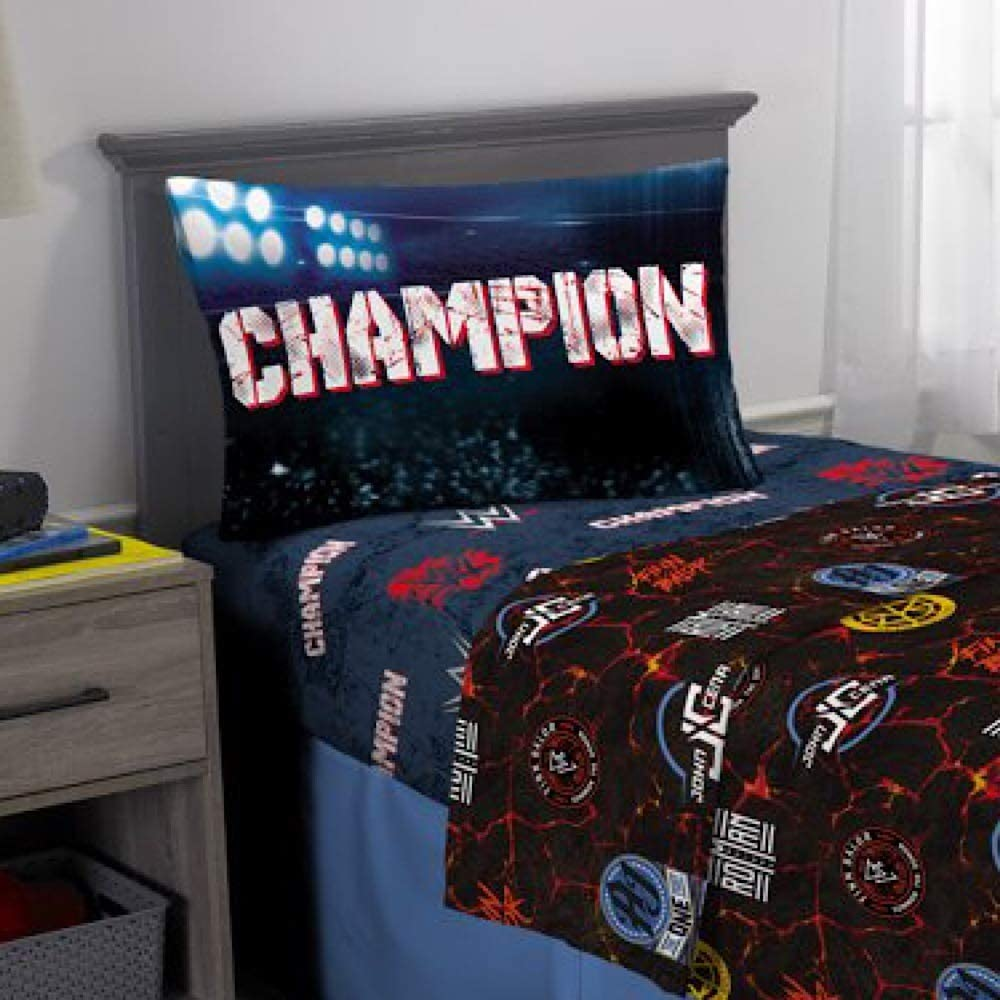 WWE Wrestling Kids Twin Bedding Sheet Set