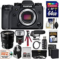 Fujifilm X-H1 Wi-Fi Digital Camera Body with 10-24mm f/4.0 XF Lens + 64GB Card + Battery & Charger + Backpack + Tripod + Flash + Filter Kit