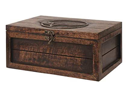Indiaethnicity Caja de madera para guardar té Caja de regalo de madera Navidad Cyber