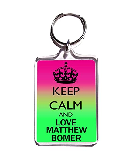 Amazon.com: Keep Calm And Love Matthew Bomer Llavero: Home ...