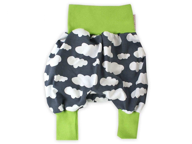 Baby Pumphose Wolkenreich grau Haremshose Jerseyhose Babyhose von Kleine Könige