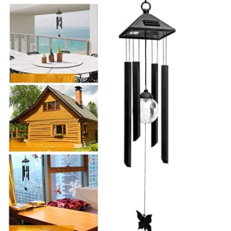 led solar wind chime fheaven tm outdoor waterproof solar powered led changing light