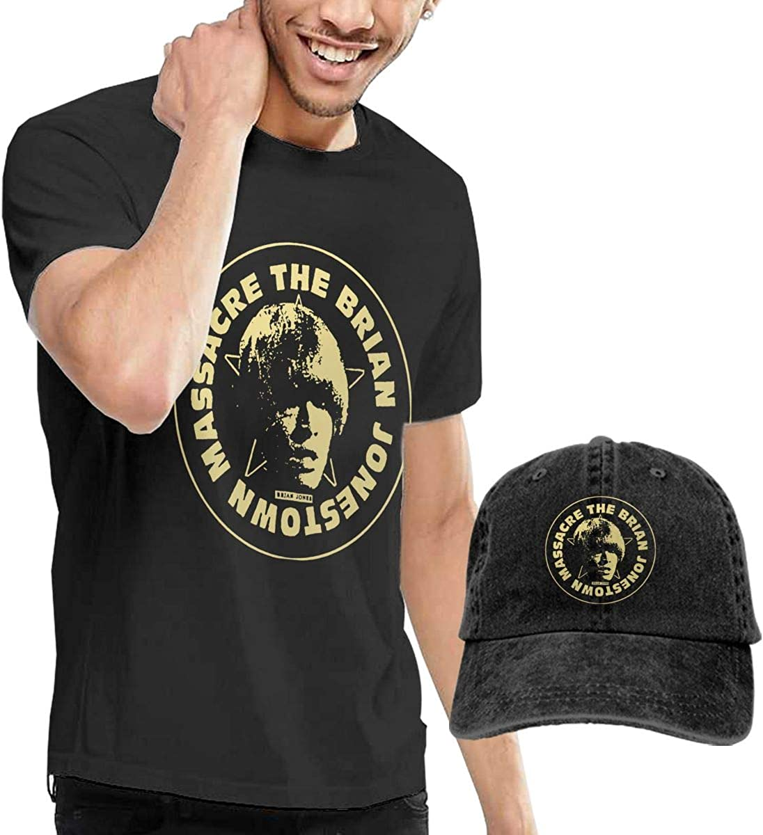Hfusih.fhs6f789 The Brian Jonestown Massacre Logo Adult Cap Adjustable Cowboys Hats Baseball Cap M Black