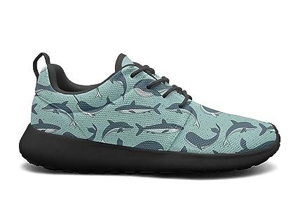 ecfa6ac43e56 VXCVF Blue Whale Shark Unicorn Mens Black Sneakers Shoes for Mens Quick-Drying  Athletic