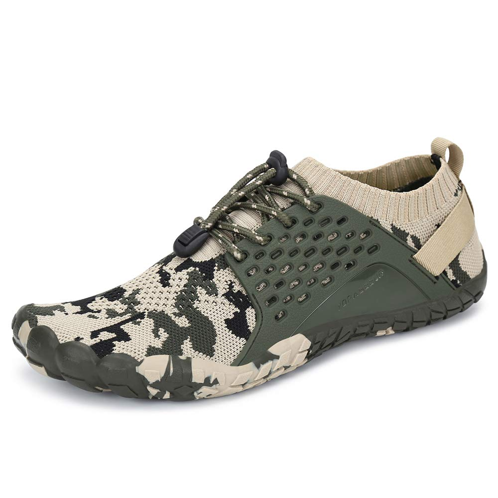Oberm Mens Trail Running Shoes Minimalist Wide Toe Box Barefoot Trainers Water Shoes