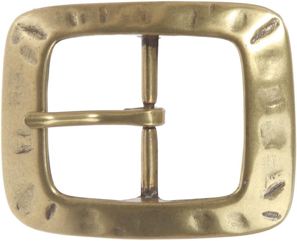 MONIQUE Men Nickel Free Center Bar Single Prong Rectangular 1.5 Belt Buckle