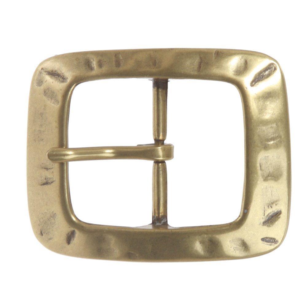 BBBelts Men Brass Single Prong Center Bar Rectangular Buckle For 1-1//2 Belts