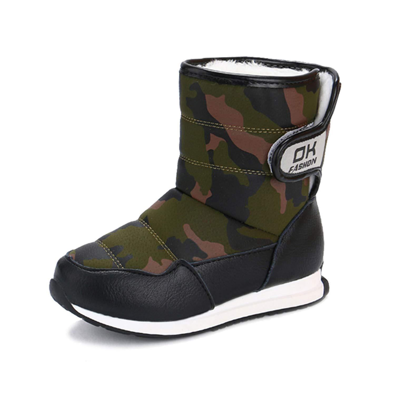 Nine shine Girls Boys Snow Boots Outdoor Warm Winter Boot Lightweight Toddler//Little Kid//Big Kid