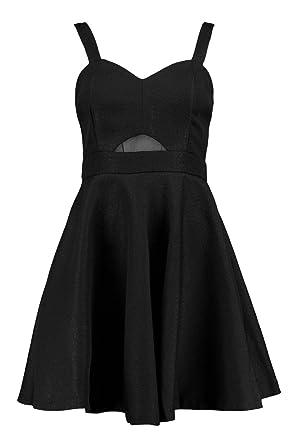 Boohoo Womens Aisha Strappy Prom Dress in Black size S