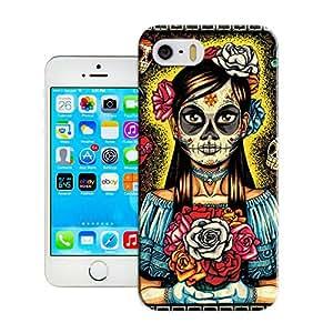 Buythecases durable Skeleton skull head arts map Rockabilly Red Skull Cherries Glitter Painting