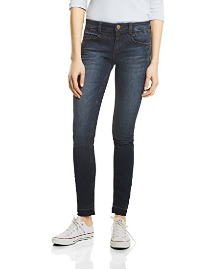 Street one 371122 York, Jean Slim Femme, (Dark Blue Authentic Wash 11224), 40 (Taille Fabricant: 30)