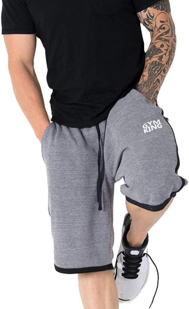JiaMeng Pantalones Cortos Hombre Bordado Deportivo Transpirable Gimnasio Pantalones elásticos Pantalones Pantalones de Compresión para Hombre con Función: Amazon.es: Ropa y accesorios