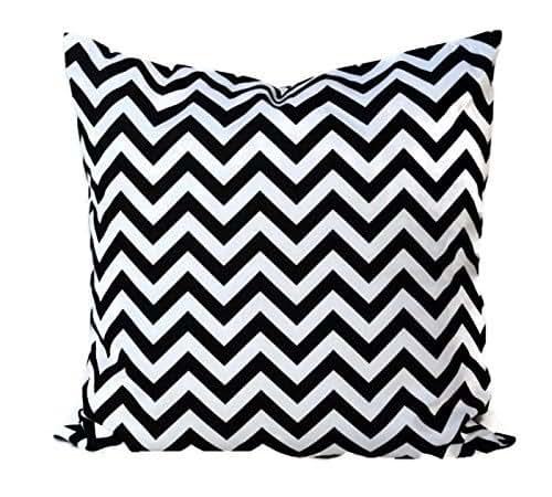 Amazon Com Black And White Chevron Throw Pillow Cover