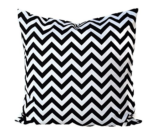 Black and White chevron Throw Pillow Cover, Cushion, Accent Pillow, Euro Sham, Cushion Cover - 26