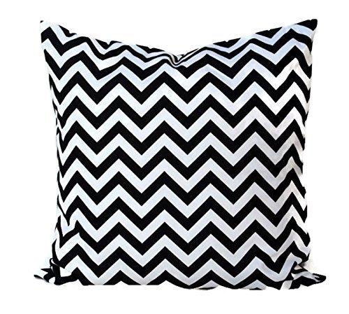 Black and White chevron Throw Pillow Cover, Cushion, Accent Pillow, Euro Sham, Cushion Cover - 26