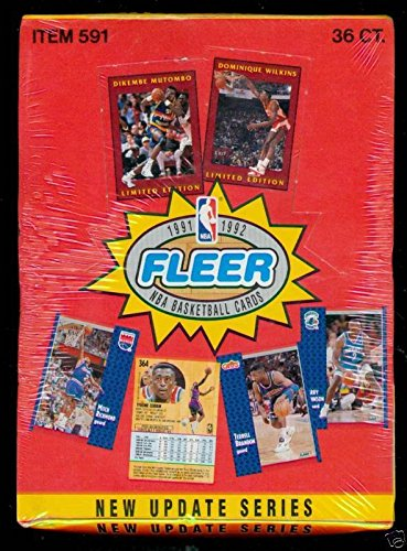 1991-92 Fleer Basketball Wax Pack Box Update Series 2 Set TWO FACTORY SEALED