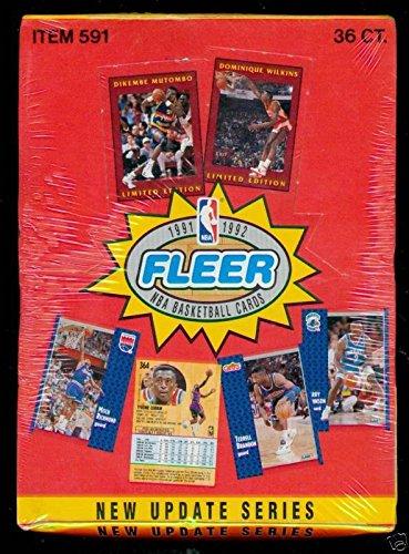 1991-92 Fleer Basketball Wax Pack Box Update Series 2 Set TWO FACTORY ()