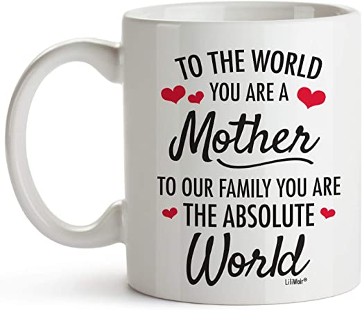 Amazon Com Mom Gifts Christmas Gifts For Mom From Daughter Birthday Gift For Mom Presents For Parents Funny Coffee Mug For Mother 1 Mother World Kitchen Dining