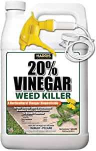 Harris Vinegar Weed and Weed Grass Killer, for Organic Production, 1 Gallon with Sprayer