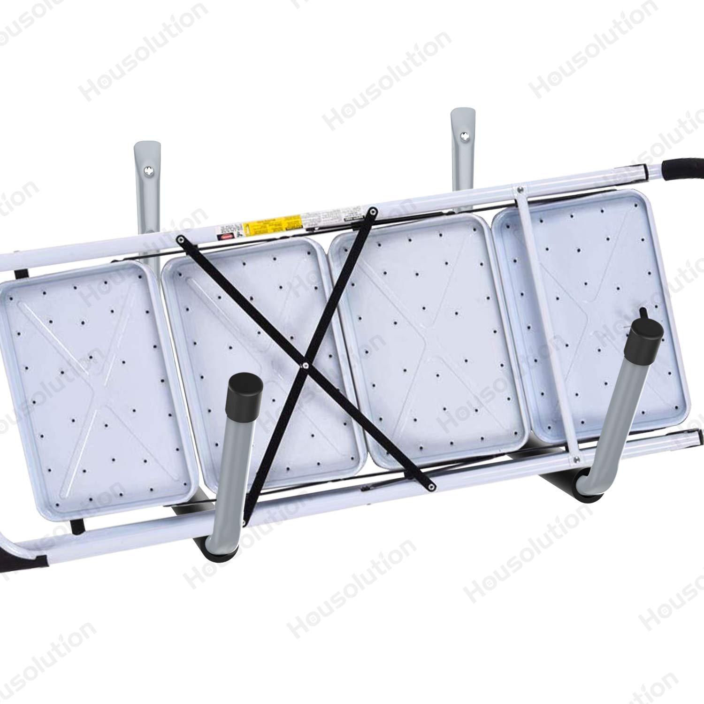 Gray Housolution Heavy Duty Jumbo Arm Garage Hooks Set Black Mat 4 Pack Steal Utility Hooks Garage Storage Organizer Garden Hangers Wall Mount Cradle Set with 8PCS Screws and Anchors