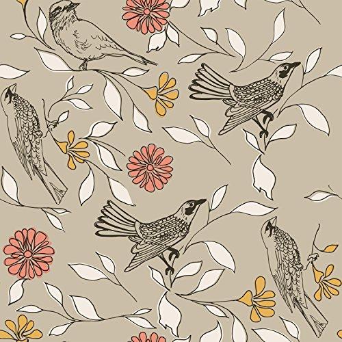 Novogratz BI476 Birds Removable Peel and Stick Wallpaper, 20.5