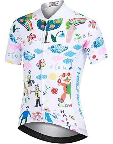 Aero Tech Designs Pink Cats /& Dogs Childs Cycling Bike Jersey Kids Biking Top