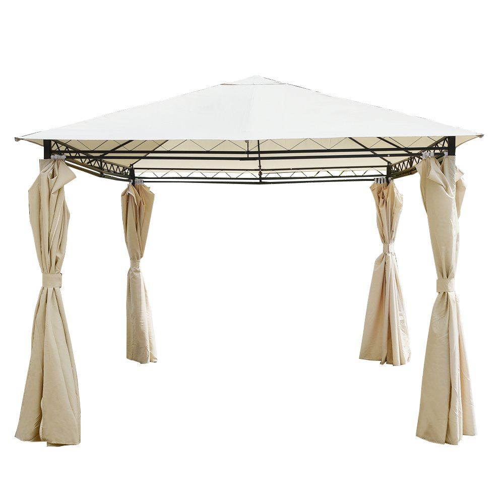 furniture-uk-shop Heavy Duty Outdoor Garden Gazebo Party Tent Wedding Marquee Awning Side Curtains W2.8XD2.8XH2.75M (FY03)