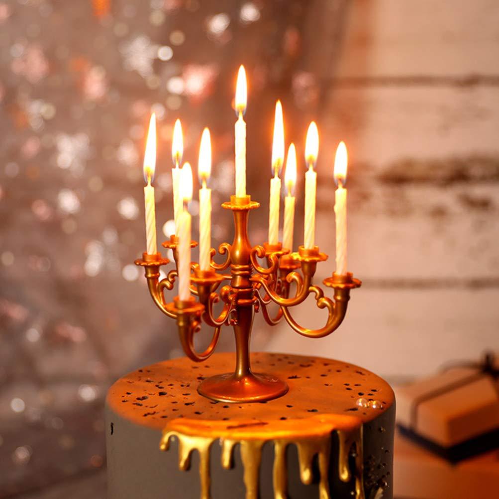 Holibanna 2pcs cand/élabre bougeoir g/âteau danniversaire Titulaire avec des Bougies pour Les Mariages de no/ël f/ête /à la Maison