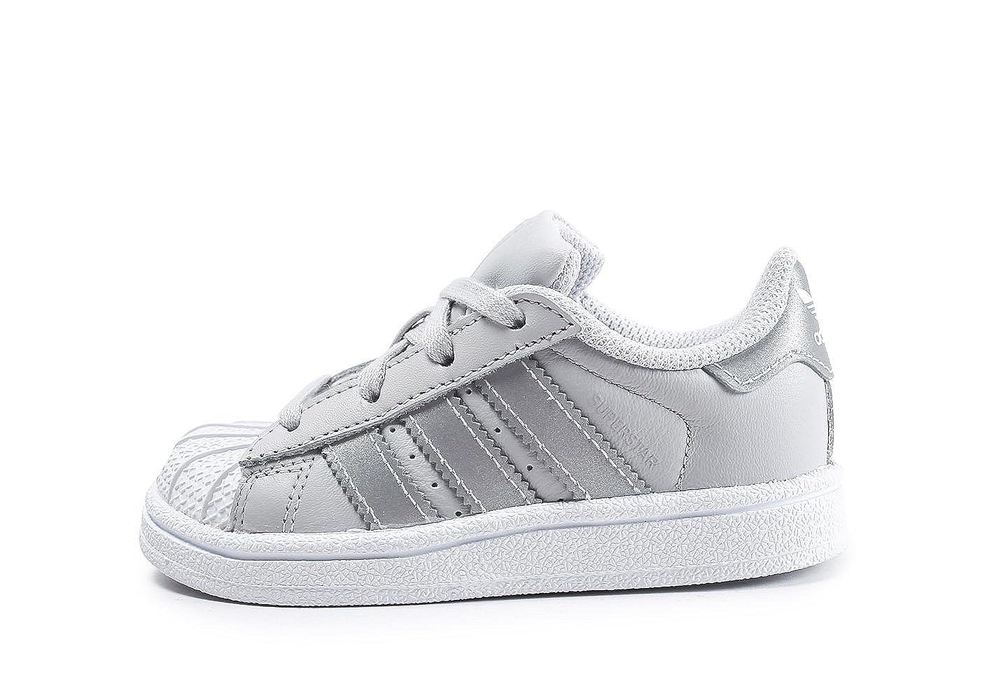 Adidas Superstar I, Chaussons Mixte bé bé , Gris (Grpulg/Plamet/Ftwbla 000), 20 EU Chaussons Mixte bébé CQ2855
