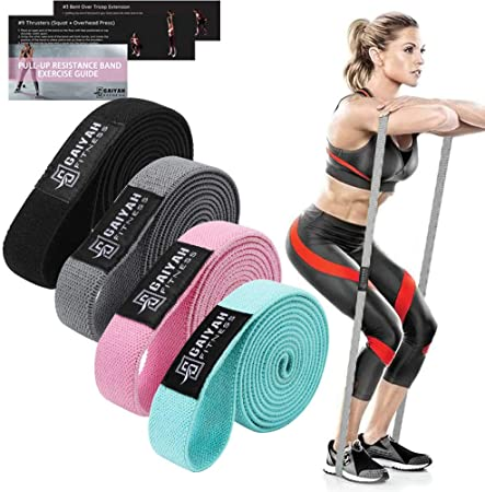 Physical Therapy Resistance Band Set -Mobility Band Powerlifting Bands for Resistance Training Carry Bag Included Home Workouts Pull Up Assist Bands