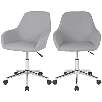 Tremendous Amazon Com Set Of 2 Modern Style Task Desk Chair Mid Back Machost Co Dining Chair Design Ideas Machostcouk