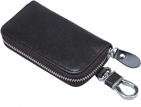ZBX El estuche para llaves del auto, el bolso de la llave con cremallera/el bolso