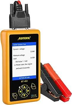 Autool Car Battery Tester BT460 Lead-acid AGM GEL Battery Cell Analyzer 4/'/' TFT Colorful Display Auto Battery Testers Car Battery Analyzer Suppor 12V Vehicles /& 24V Heavy Duty Trucks